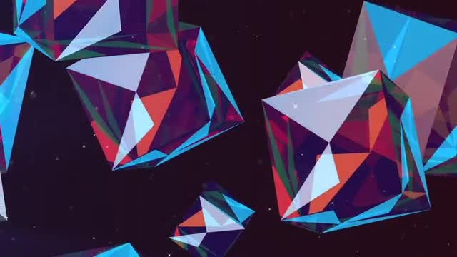 Colorful Cubes Flying: Stock Motion Graphics