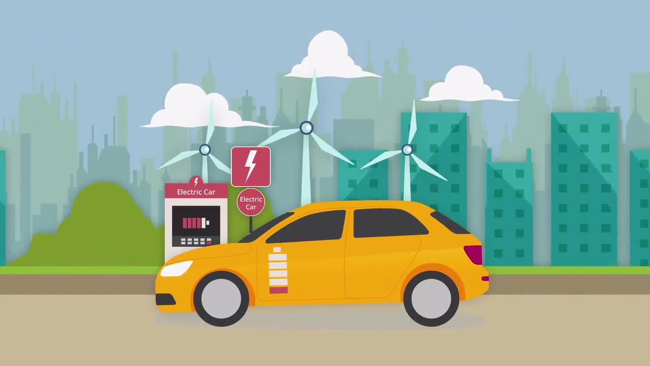 Electric Car Charging Animation Stock Motion Graphics Motion Array