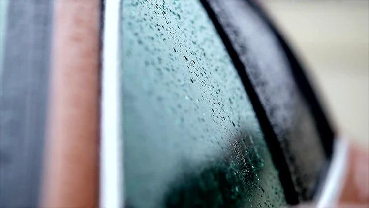 Rain On Car: Stock Video