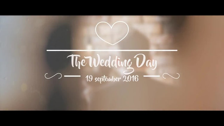 The Wedding Day: Premiere Pro Templates