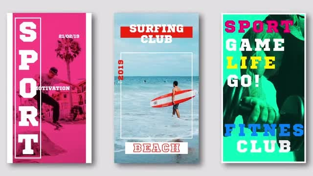 Instagram Sport Stories: After Effects Templates