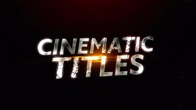 Cinematic Shatter Titles: Motion Graphics Templates