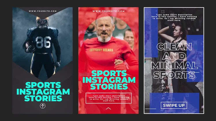 Sports Instagram Stories: Motion Graphics Templates