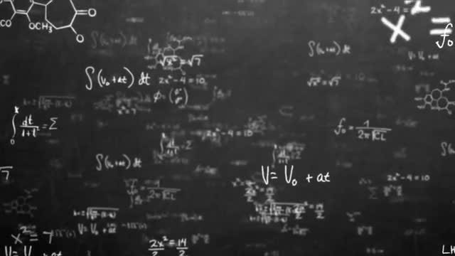 Black Math Equations and Formulas: Stock Motion Graphics