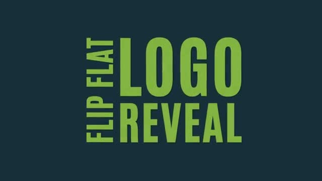Flip Flat Logo Reveal: After Effects Templates