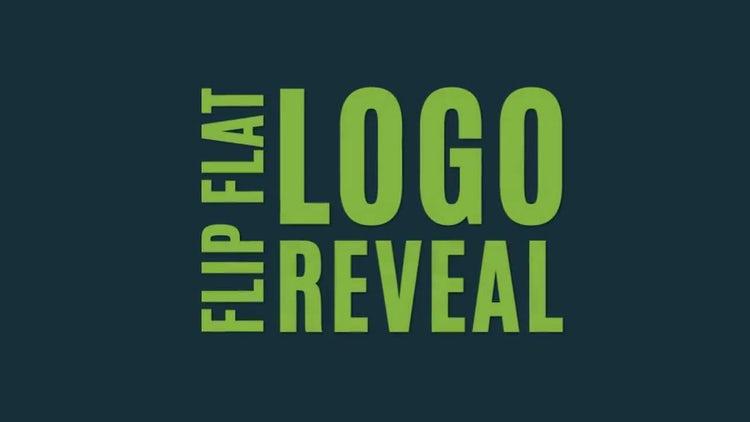Flip Flat Logo Reveal: After Effects Templates