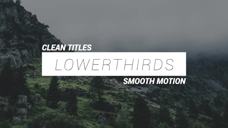 12 Square Lowerthirds: Premiere Pro Templates