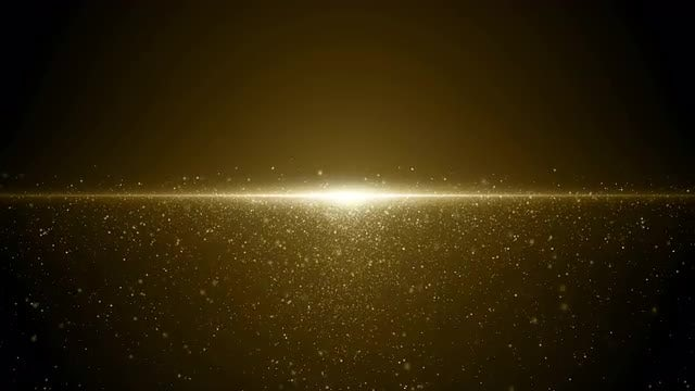 Gold Particles Horizon Background Loop: Stock Motion Graphics