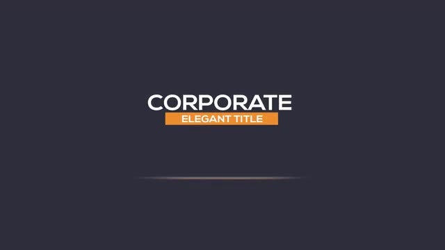 Clean Corporate Titles: After Effects Templates