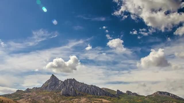 Karadag Mountain Time Lapse: Stock Video