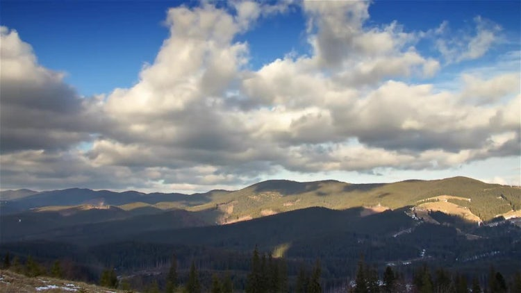 Over Mountain Time Lapse: Stock Video