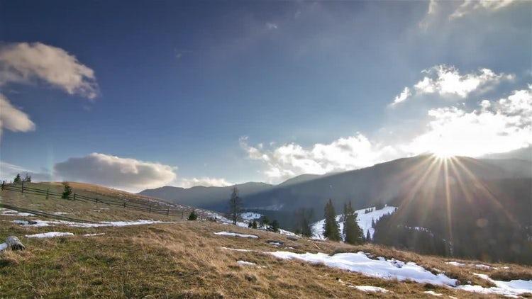 Mountain Time Lapse: Stock Video