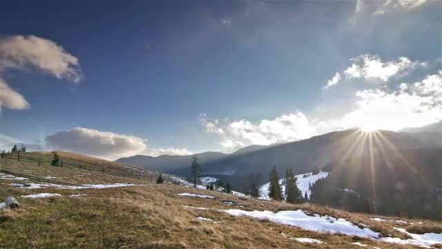 Mountain Time Lapse: Stock Video