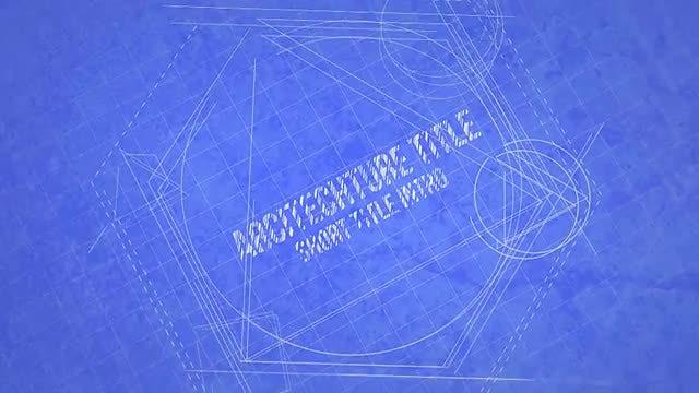 Blueprint Title Design: Motion Graphics Templates