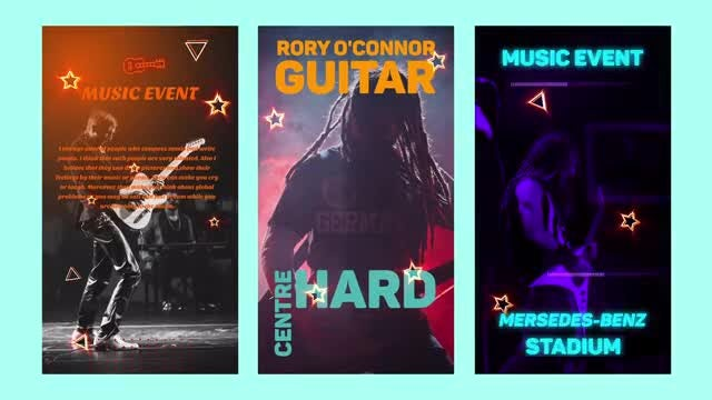 Instagram Music Stories: After Effects Templates
