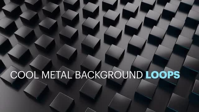Cool Metal Background Loops: Stock Motion Graphics