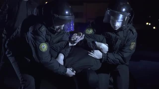 Police Detain A Criminal: Stock Video