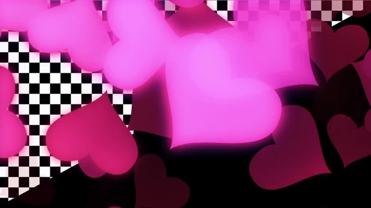 Glowing Hearts: Stock Motion Graphics