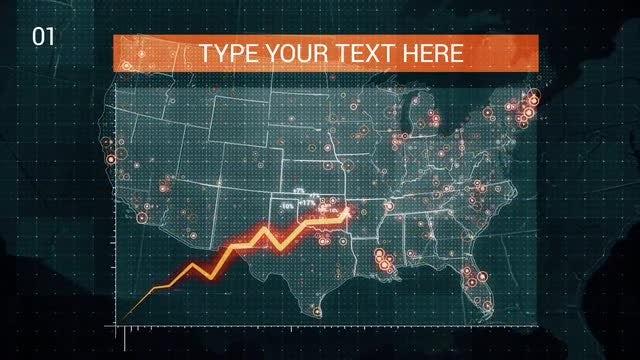USA Map Graph: Stock Motion Graphics