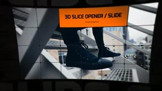 3D Slice Opener Slideshow: After Effects Templates