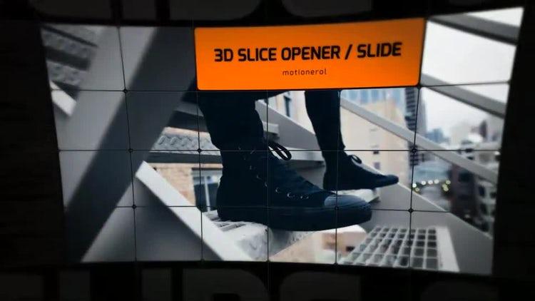 3D Slice Opener Slideshow: After Effects Templates