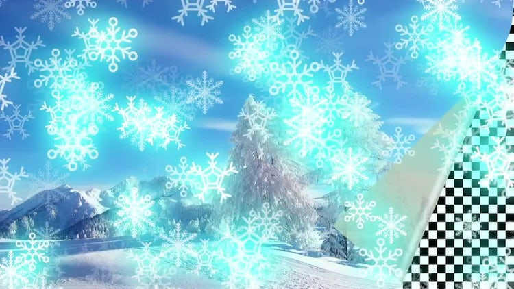 Glowing Snowflakes Pack: Stock Motion Graphics