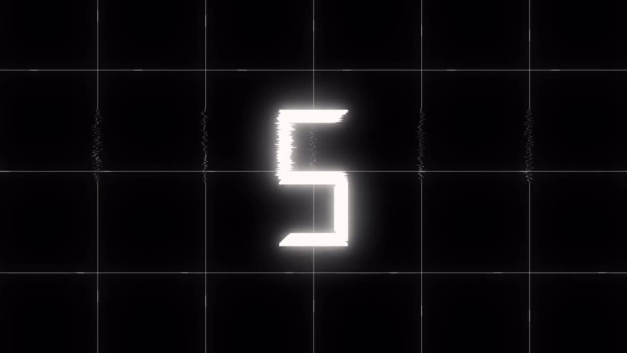 Glitch Countdown 4K Overlay - Stock Motion Graphics | Motion