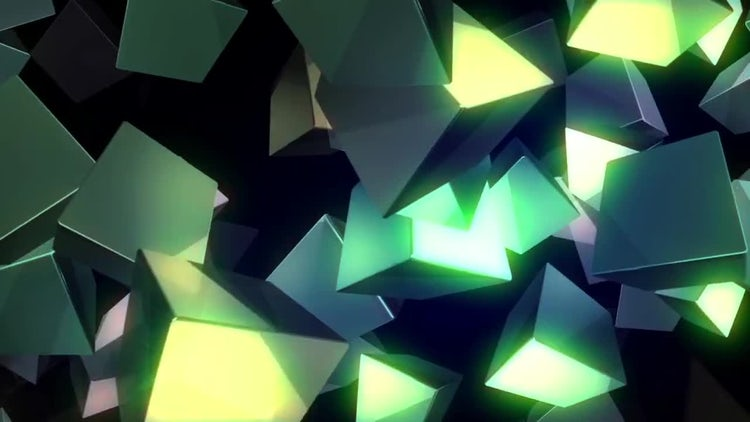 Glowing Cubes: Stock Motion Graphics