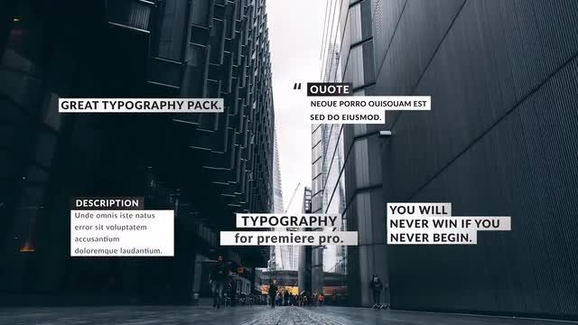 Box Titles Pack: Premiere Pro Templates
