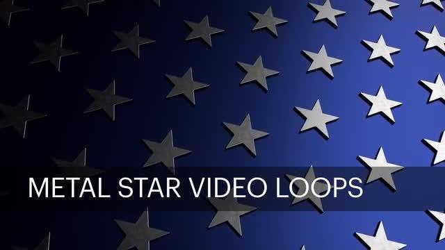 Metal Star Loops: Stock Motion Graphics