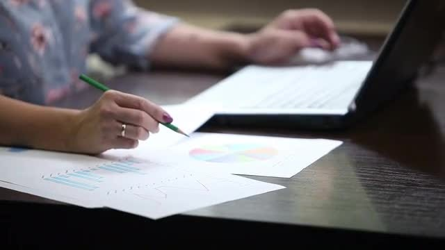 Woman Financier Working: Stock Video