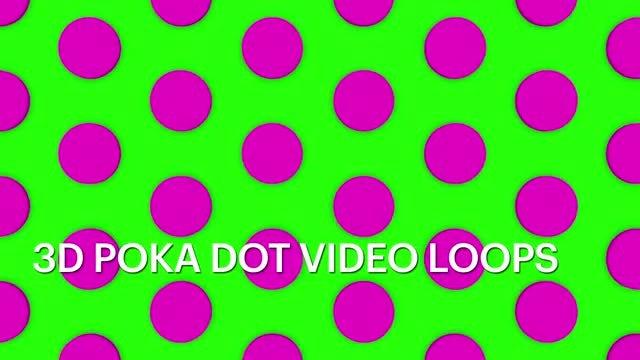 3D Polka Dot Loops: Stock Motion Graphics