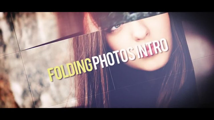 Folding Photos Intro: After Effects Templates