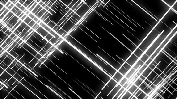 Black White Abstract Grid Lines: Stock Motion Graphics