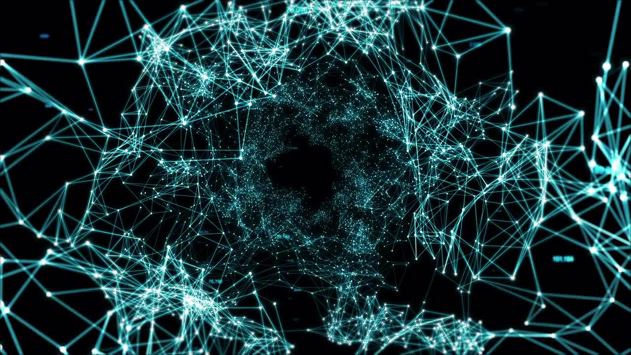 Mega Plexus Network Shape - Stock Motion Graphics | Motion Array