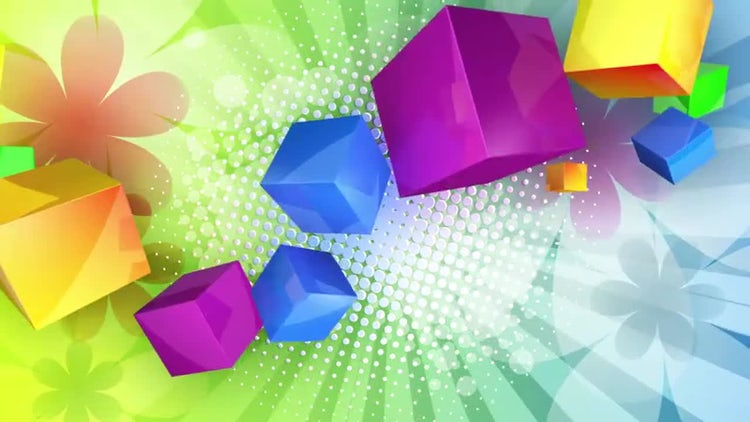 Colorized Cubes Background. Loop able: Stock Motion Graphics