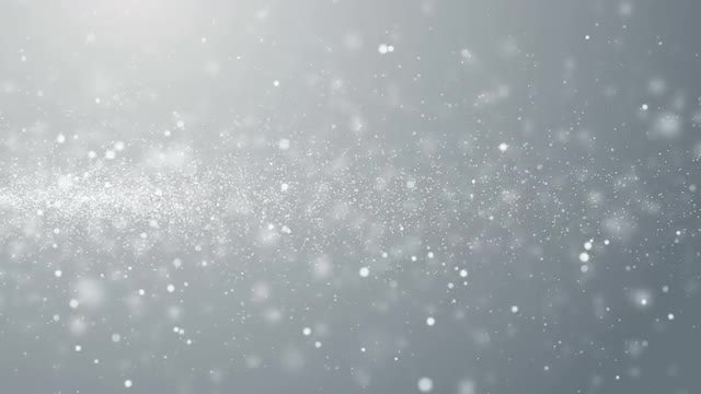 White Particles Moving Sideways Loop: Stock Motion Graphics