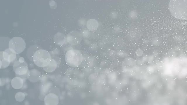 White Particles Winter Gray Background: Stock Motion Graphics