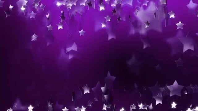 Violet Stars Background: Stock Motion Graphics