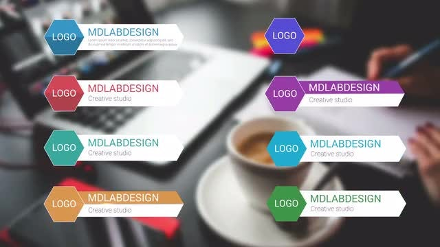 Colorful Rhombus Corporate Lower Thirds: After Effects Templates