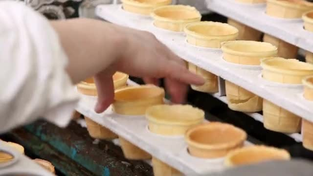 Ice Cream Production: Stock Video