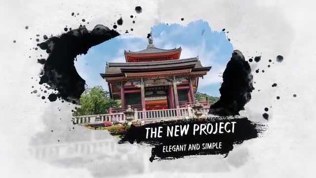 Ink And Brush Slideshow: After Effects Templates
