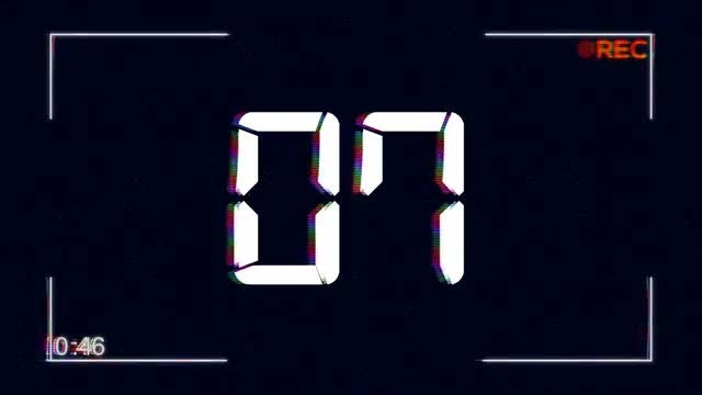 VHS Camera Glitching Countdown: Stock Motion Graphics