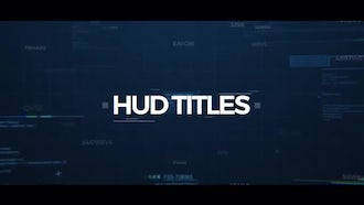 HUD Tech Titles: After Effects Templates