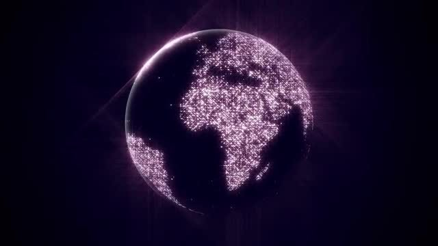 Sparkle Globe: Stock Motion Graphics