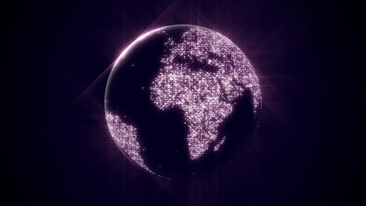 Sparkle Globe: Motion Graphics