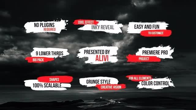 Grunge Ink Lower Thirds: Premiere Pro Templates