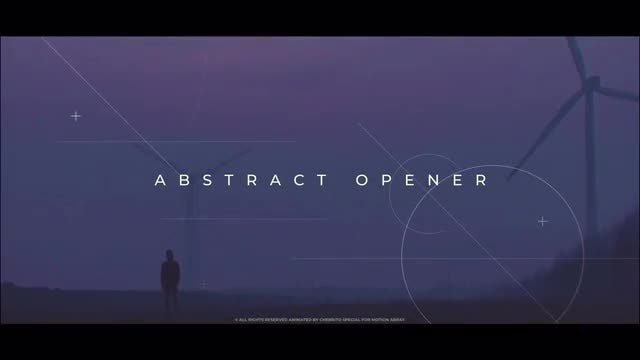 Abstract Opener: After Effects Templates