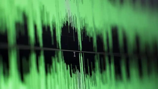 Audio Editing Timeline: Stock Video