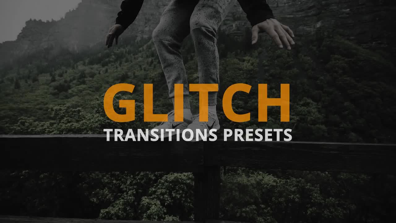 Glitch Transitions Presets 191064 + Music